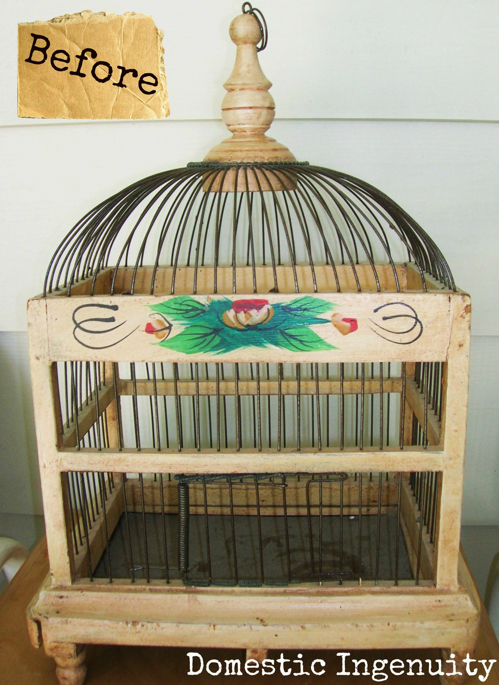 diy painted bird cage. Black Bedroom Furniture Sets. Home Design Ideas