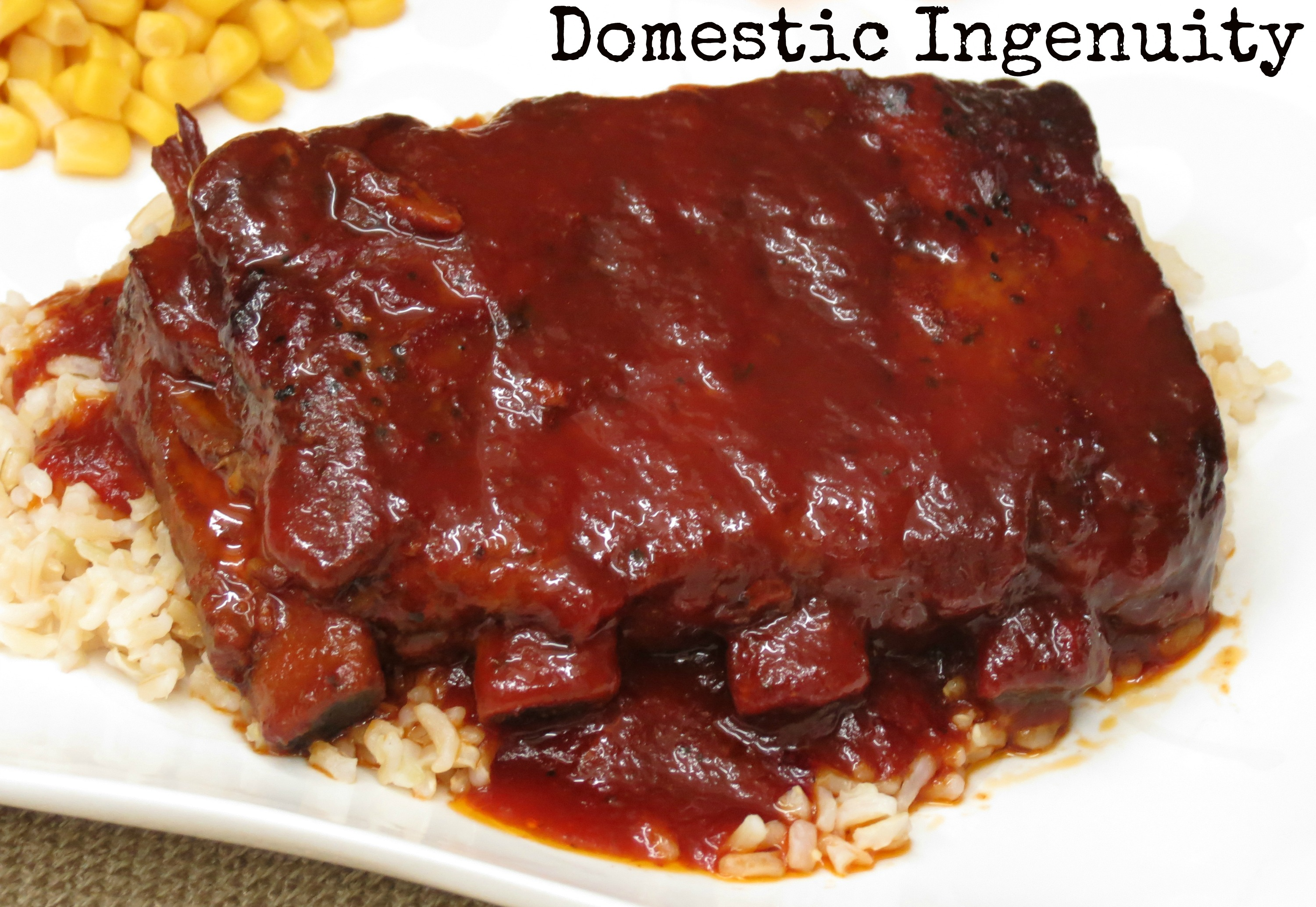 Slow Cooker BBQ Ribs |