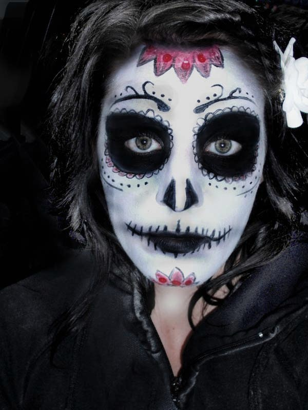 Gallery For &gt Black And White Halloween Makeup Men - Black And White Halloween Makeup