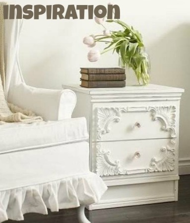 white nightstand in the fun lane branches tulips slipcovered chairs[1]