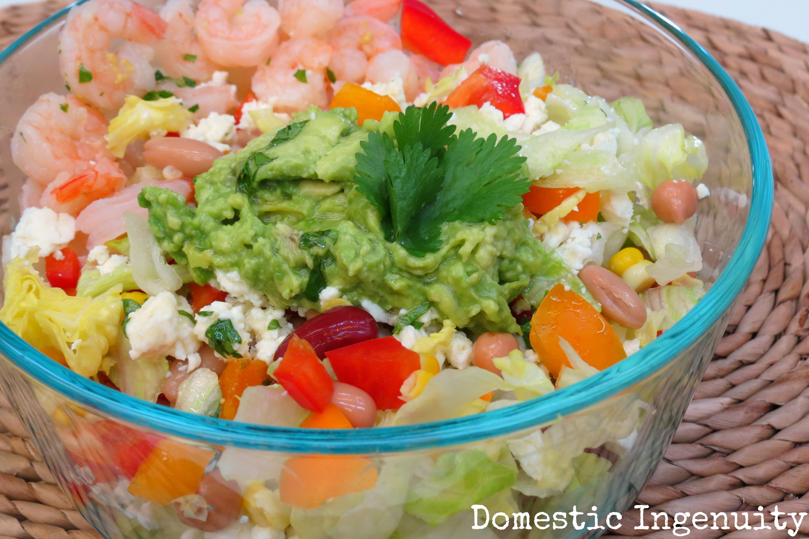 Avocado & Feta Salad with Honey Lime Dressing