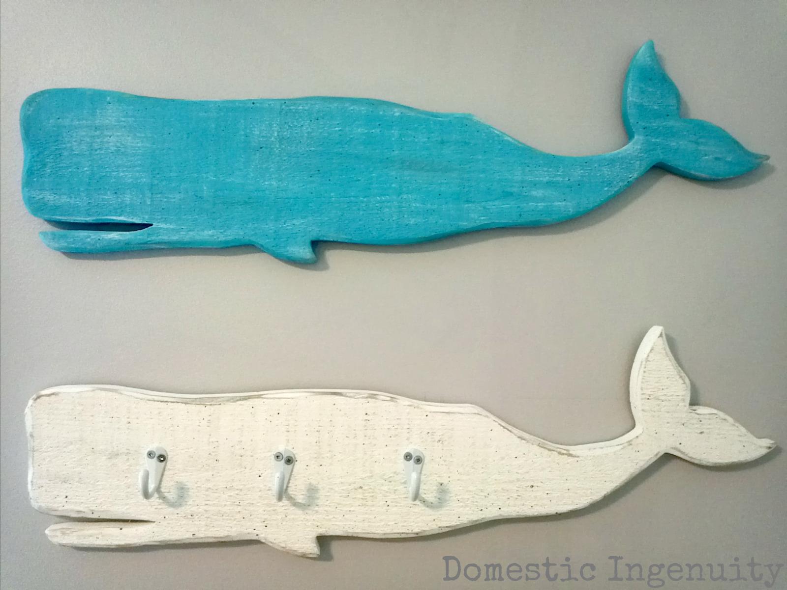 Wooden Whale Wall Art diy nautical wooden art |