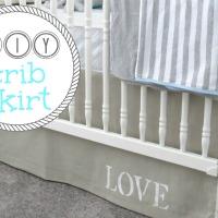 DIY Adjustable Crib Skirt