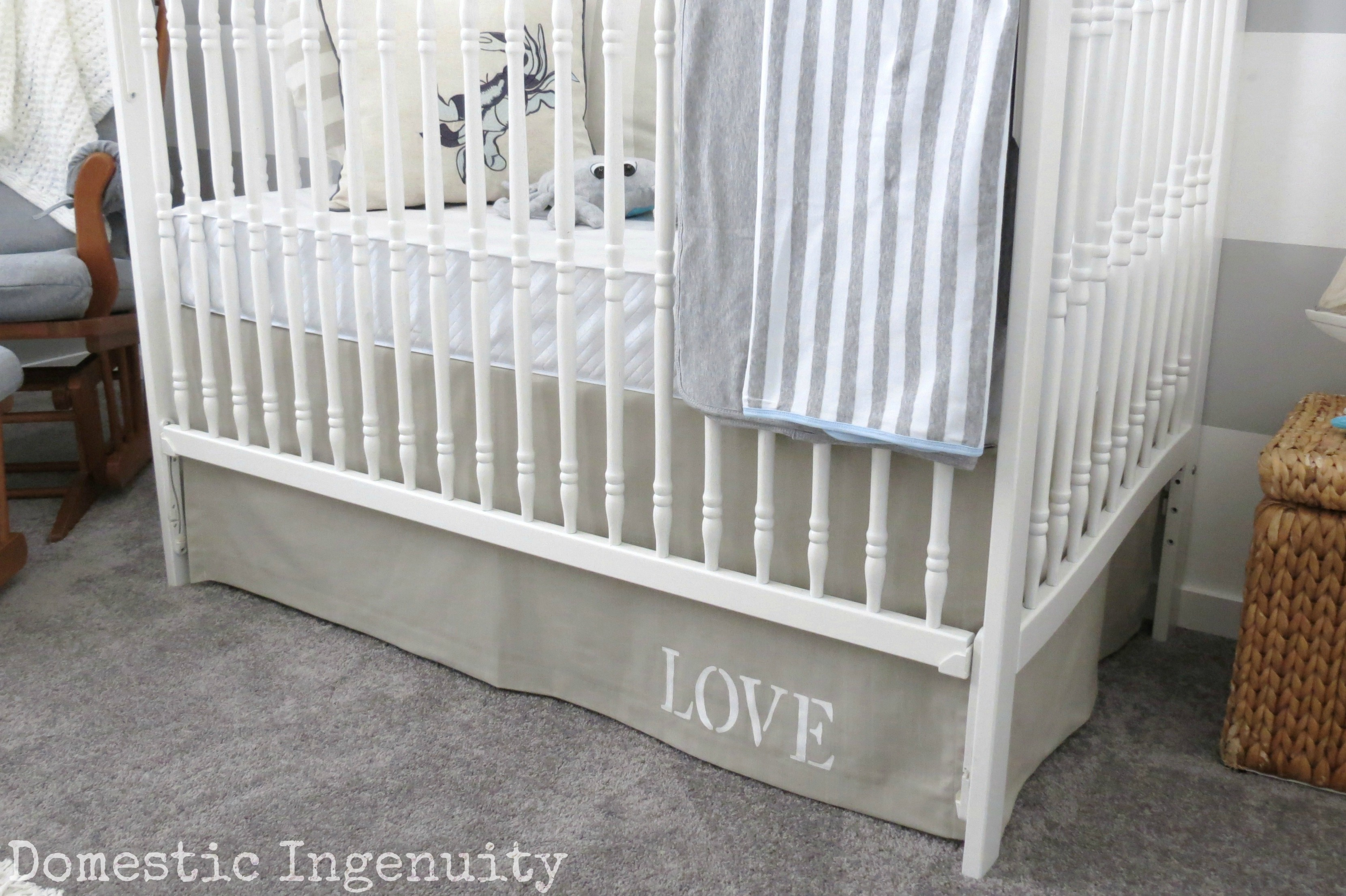 buffalo your make by check with this home easy tutorial mom blogger diy skirt decor own crib bed