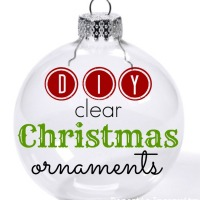 DIY Clear Ornaments