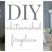 DIY Whitewashed Fireplace